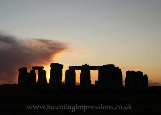 Stonehenge at mid winter