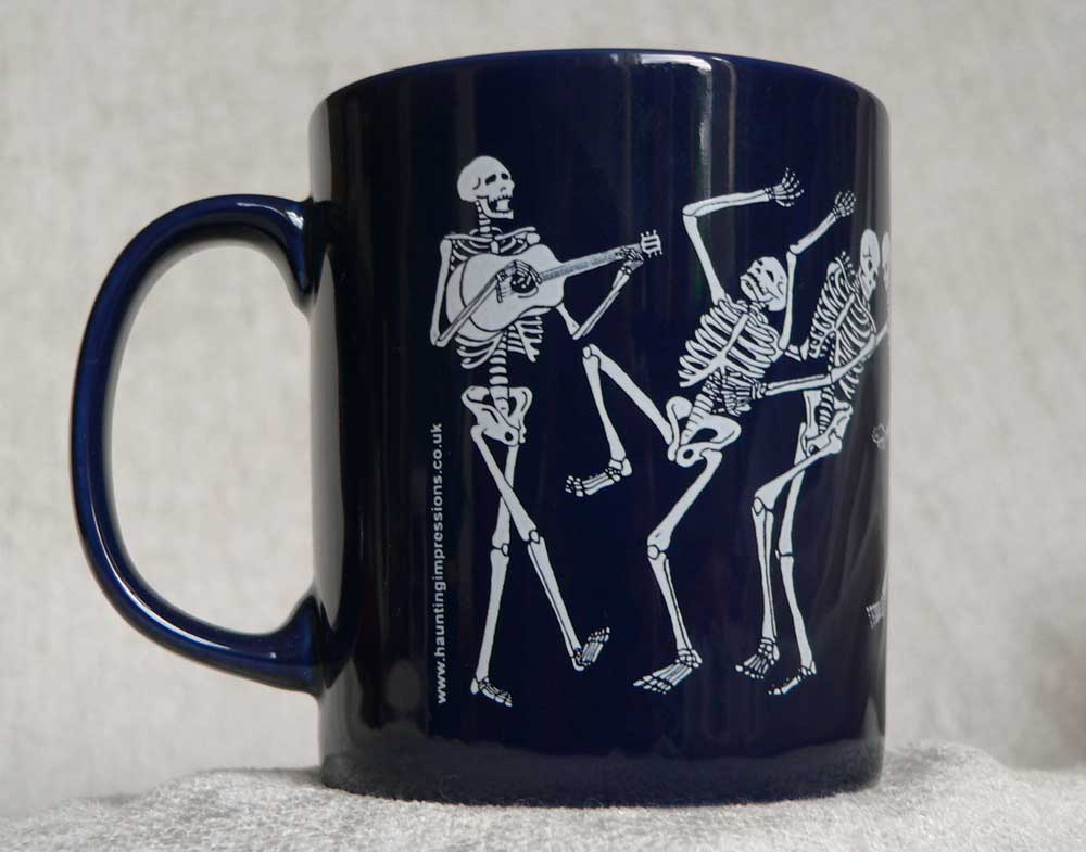 Day of the dead mug from back