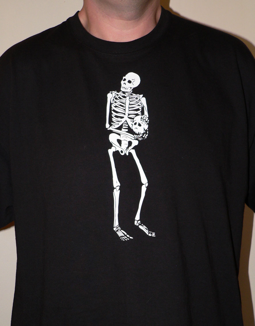 new skeleton t-shirt